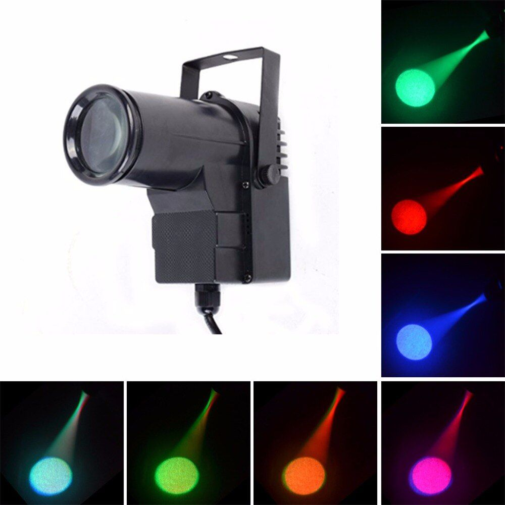 AUCD Mini 10 W RGBW 4 en 1 LED projecteur Pinspot Disco magasin DMX faisceau lampe DJ fête spectacle projecteur mariage scène éclairage LE-M512
