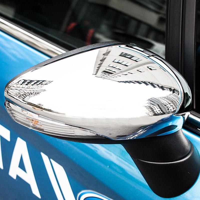 Kostenloser Versand Für Ford Fiesta 2009 2010 2011 2012 2013 2014 2015 2016 Auto Styling Chrome Side Flügel Spiegel Abdeckung trim