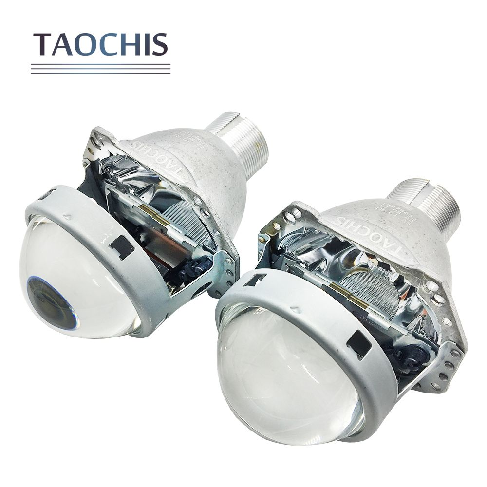 TAOCHIS Auto head light 3.0 inch Bi xenon Projector Lens replace 3R G5 HELLA H4 Lossless installation Non-destructive