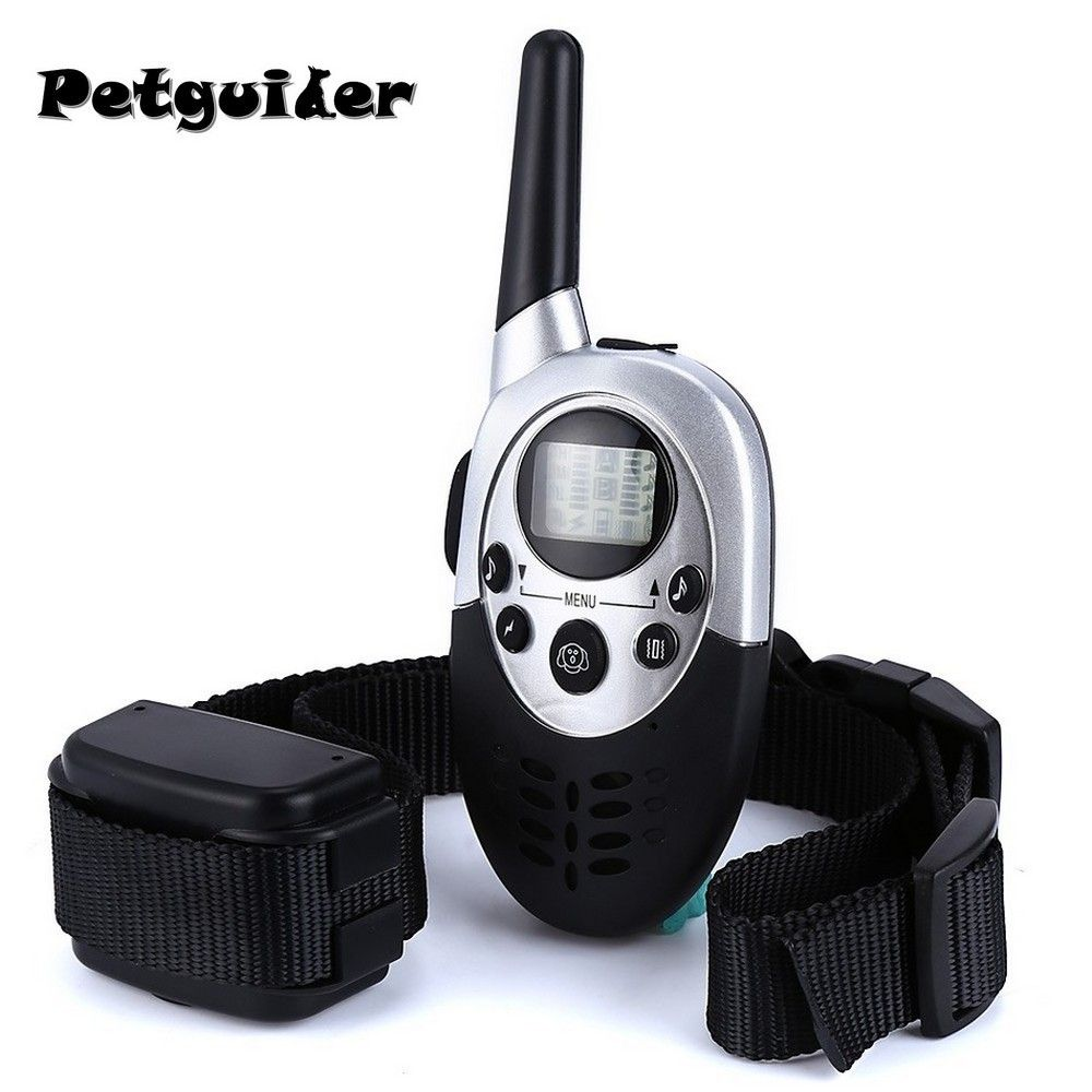 Pet Dog Training Collar Pet Training Collar Dog Trainer Water Resistant Rechargeable LCD Remote Electric Shock Dog Control