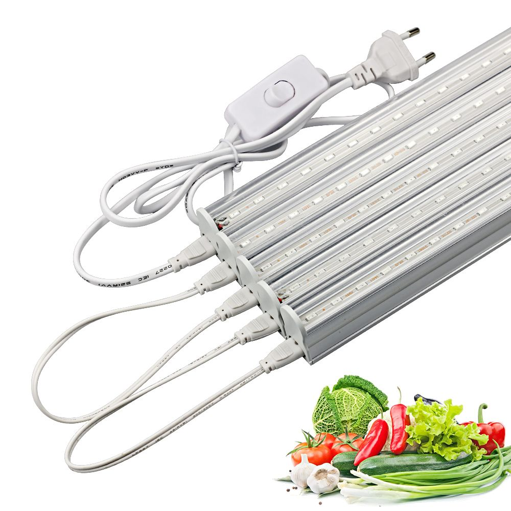 50cm LED Grow Bar Lights Plants Growing lamp Red 660nm Blue 460nm smd 5730 Growth Light Tube + Power cable for flower seedling