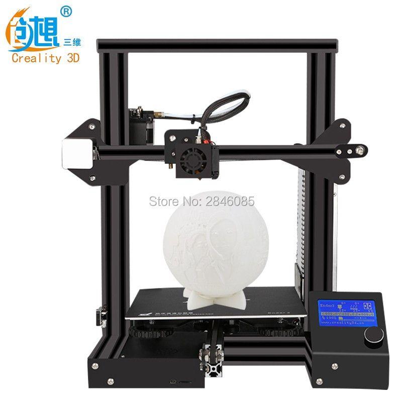 Global sale Ender-3 Creality 3D printer V-slot prusa I3 Kit Resume Power Failure Printer 3D DIY KIT 110C for Hotbed