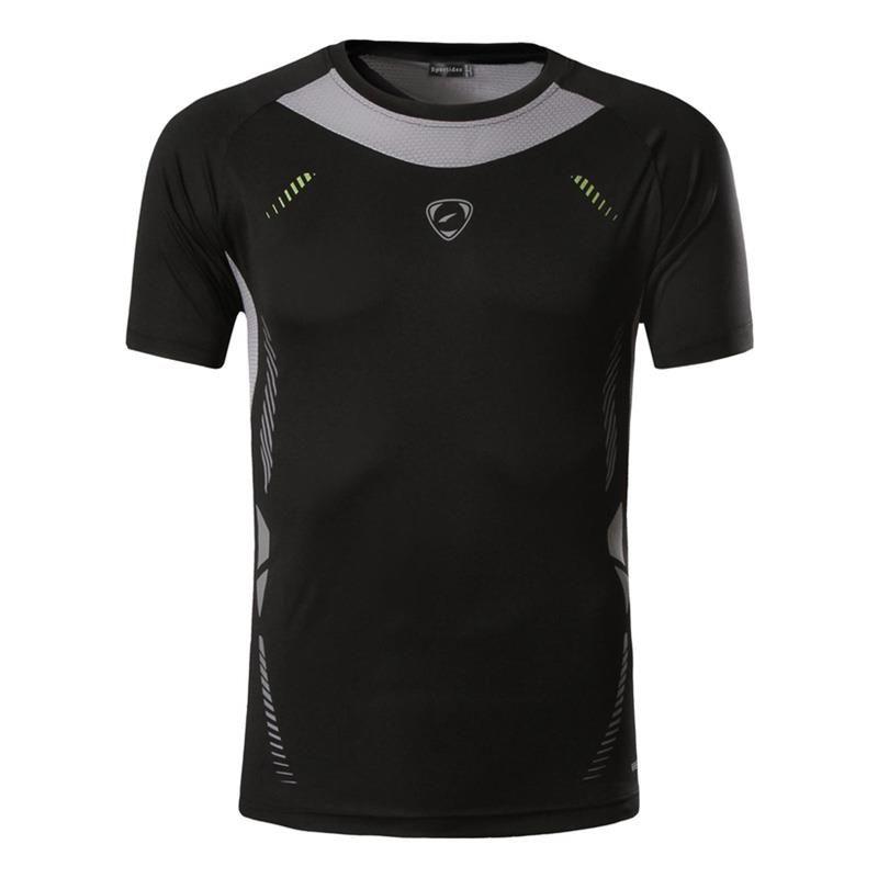 Nouveauté 2019 hommes Designer T Shirt décontracté séchage rapide Slim Fit dessus de chemise et t-shirts taille S M L XL LSL3225 (veuillez choisir la taille USA)