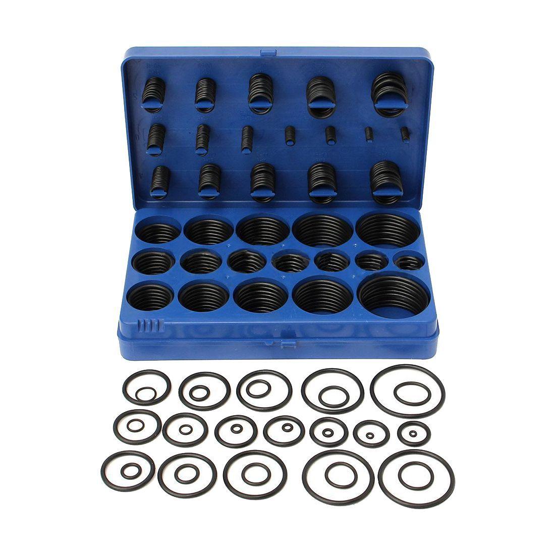 Wholesale 419pcs/lot Rubber O <font><b>Ring</b></font> O-<font><b>Ring</b></font> 32 Sizes Black Washer Gasket Sealing <font><b>Ring</b></font> Assortment Kit With Case