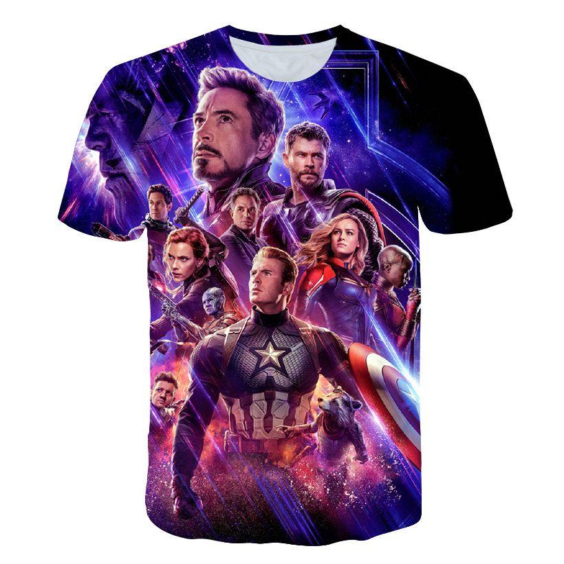 2019 New design t shirt men/women marvel Avengers Endgame 3D print t-shirts Short sleeve Harajuku style tshirt tops AS SIZE