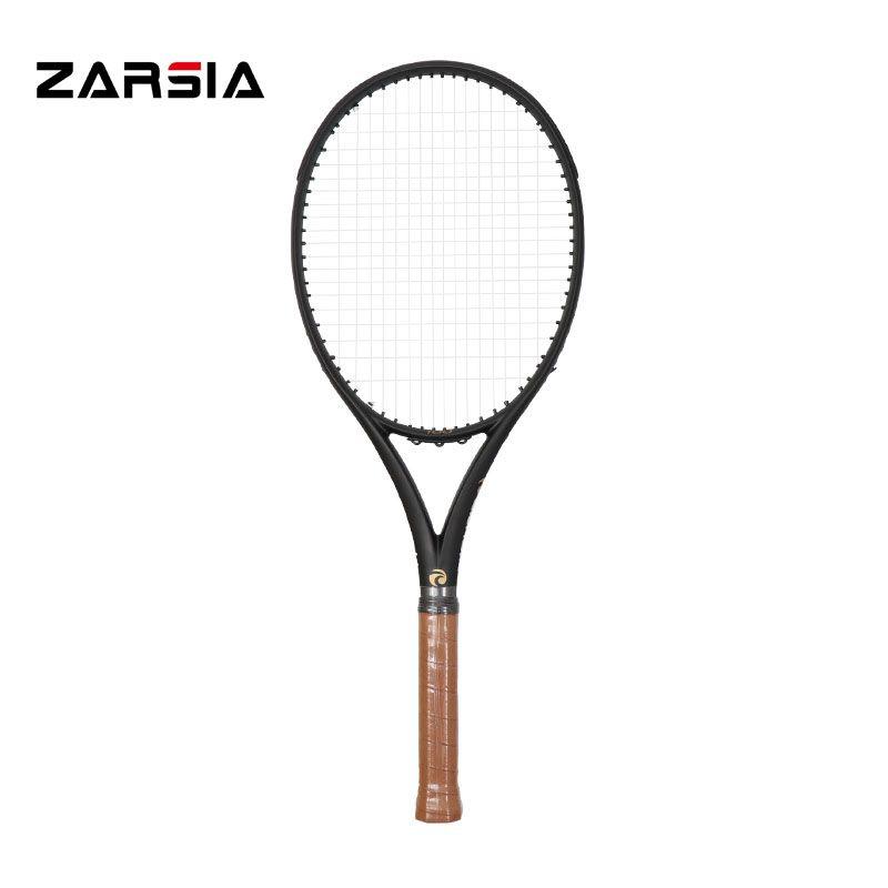 2017 ZARSIA zoll Schwarz Tennisschläger 100% graphit tennisschläger 300g 41/4, 43/8, 41/2 Kostenloser versand