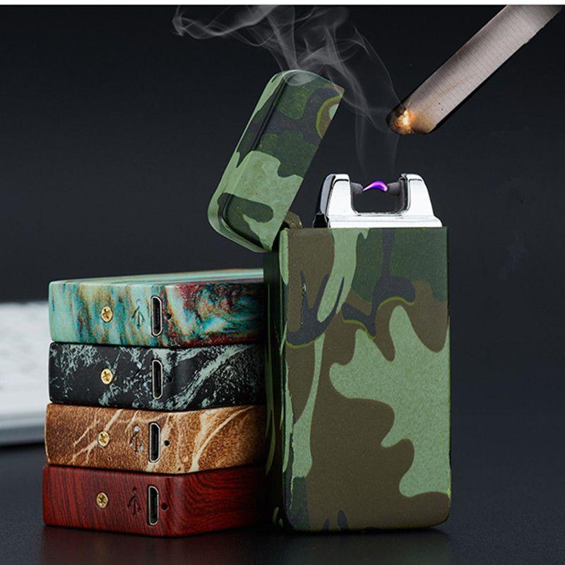 Plasma Cigare Arc Palse Léger Impulsion Coupe-Vent Léger Tonnerre USB Briquet Rechargeable Cigarette Accessoire Briquet Électronique