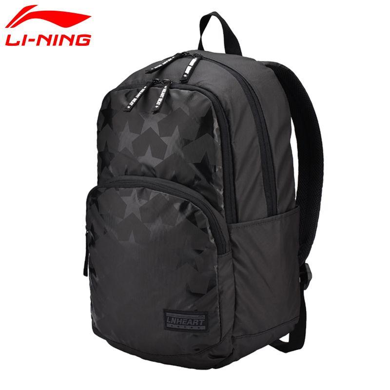 Li-Ning унисекс Training рюкзак полиэстер классический досуг черный подкладка Для мужчин и Для женщин спортивная сумка absm032 bbf222
