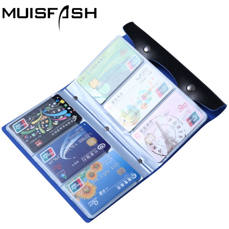 Fashion 108 Slots Credit Card Holder Bags Good Quality Leather Bussiness Cards Case Bank Id Card Holders Keeper Hot Sale LS1044
