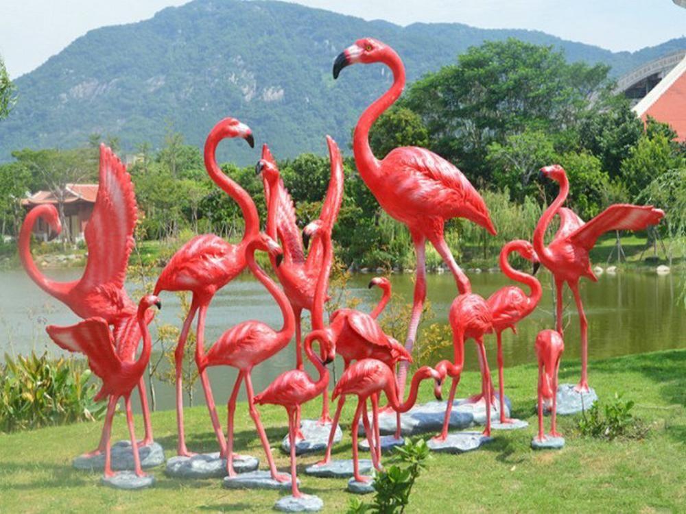 Simulation nachahmung emulation tier universal personalisierte große große Flamingo abbildung haus zimmer garten bar pet dekoration