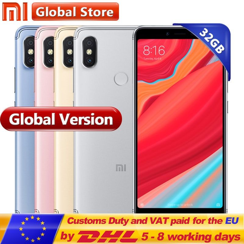 Global Version Xiaomi Redmi S2 3GB 32GB Cellphone Snapdragon SD625 Octa Core 3080mAh 5.99