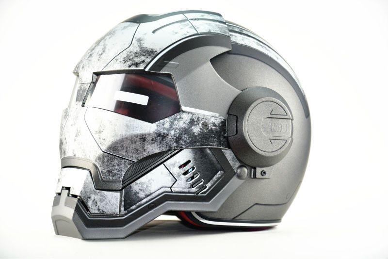 Livraison gratuite Top ABS Masei guerre Machine mat gris hommes IRONMAN fer homme casque moto casque demi casque visage ouvert casque