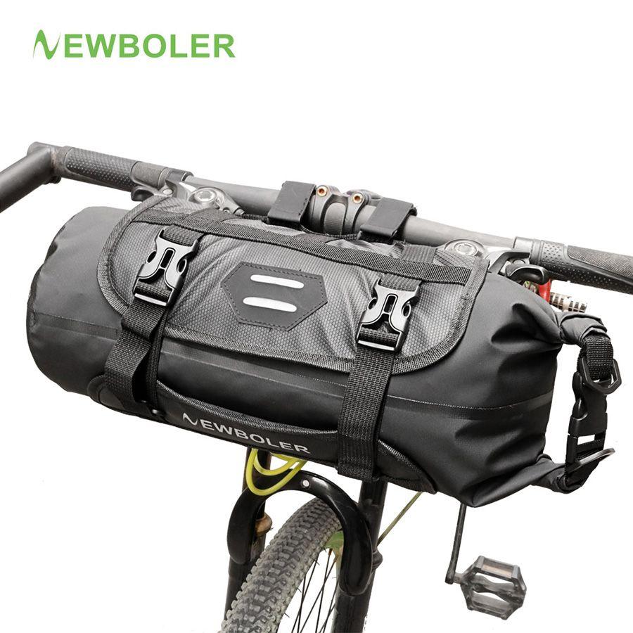 NEWBOLER Bike Front Tube Bag Waterproof Bicycle <font><b>Handlebar</b></font> Basket Pack Cycling Front Frame Pannier Bicycle Accessories