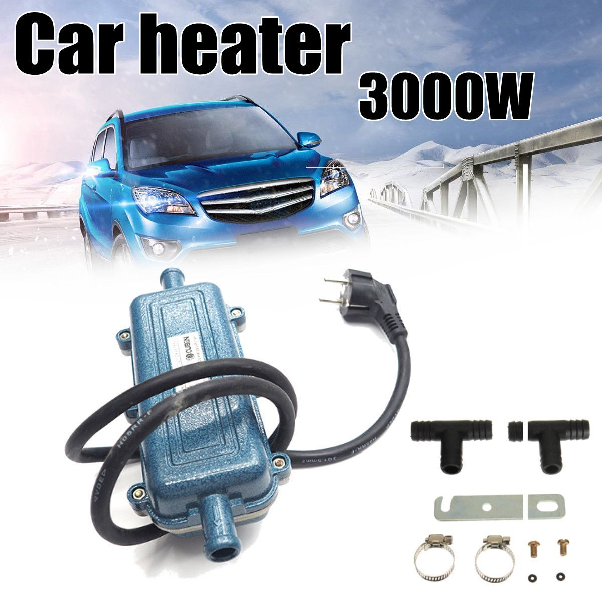 Portable Car Engine Air Heater Preheater 220V 3000W Metal Engine Cycle Heating Machine Conditioner Warmer for Motorhome Car SUV