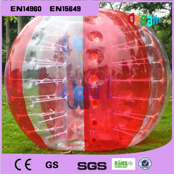 Livraison Gratuite 0.8mm PVC 1.7 m Gonflable Bumper Ball Corps Bulle Football Bulle Football Boule De Zorb À Vendre Zorb Balle