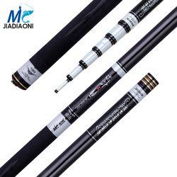 Jiadiaoni Baru Serat Karbon 3.6 M-8.1 M Carpfishing Teleskopik Taiwan Spinning Fishing Rod China Fishing Tackle
