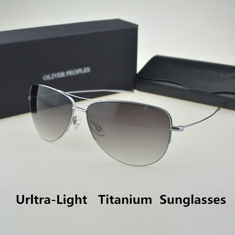 Strummer Sunglasses Pure Titanium Super light 12g Oliver Peoples Pilot Sunglasses Men Unisex Brand High quality Sunglass OV1004S