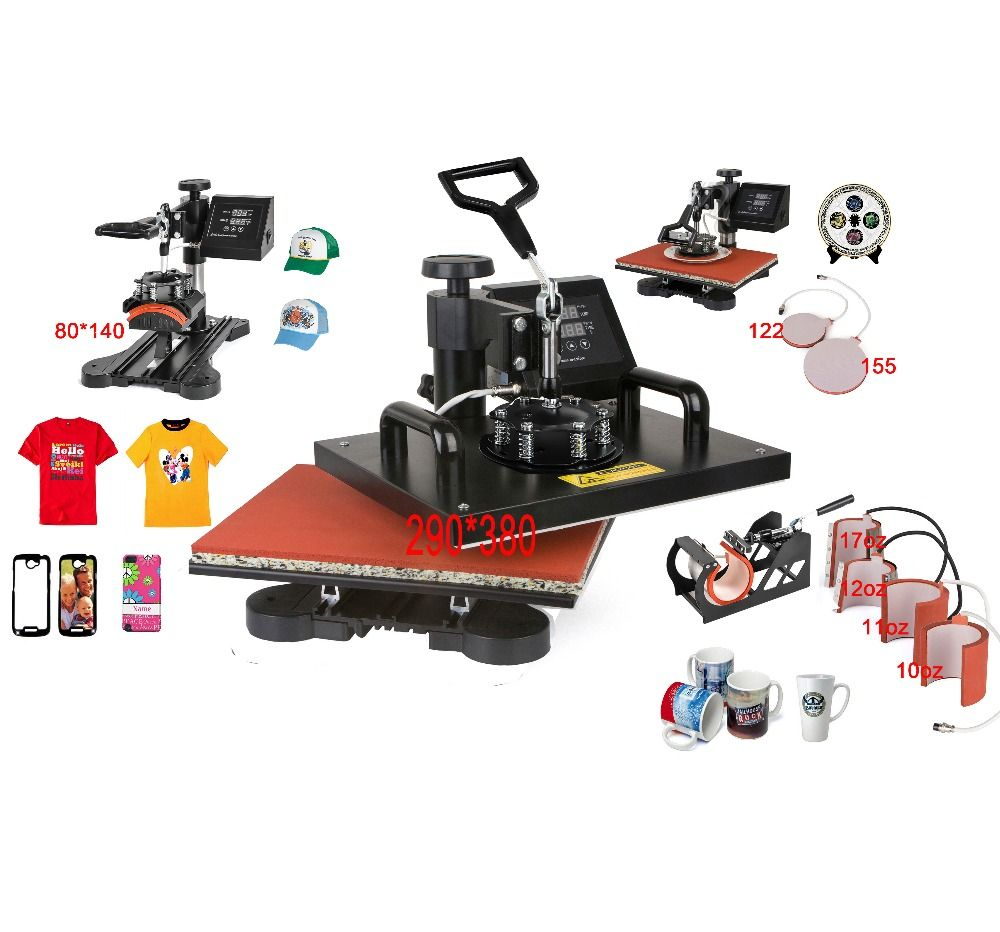 Advanced New Design 8 In 1 Combo Heat Press Machine,Sublimation/Heat Press,Heat Transfer Machine For Mug/Cap/T shirt/Phone cases