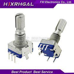 5 pcs Prune poignée 20mm rotatif codeur commutateur de codage/EC11/numérique potentiomètre avec interrupteur 5 Broches
