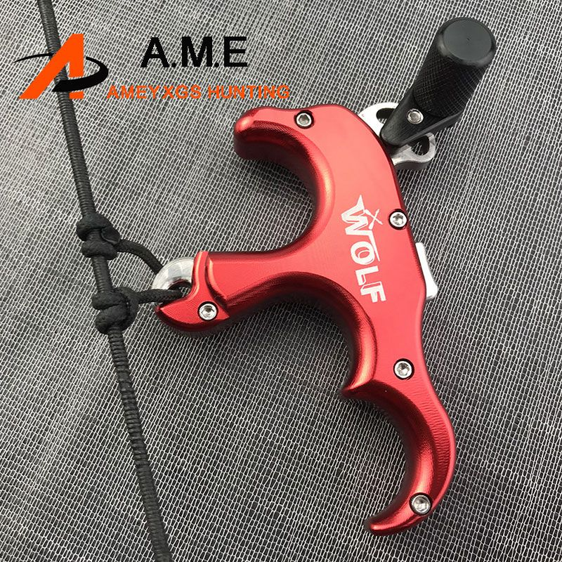4 Color Automatic Trigger Release for Compound Bow Stainless Steel 1pc 3 Fingers Archery Outdoor Shooting Recurve Bow Camping