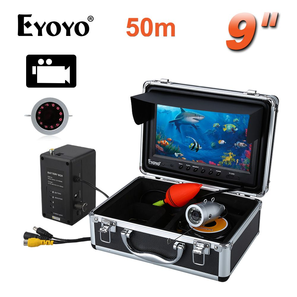 EYOYO HD 1000TVL 50M Silver Color Underwater Fishing CAM 9
