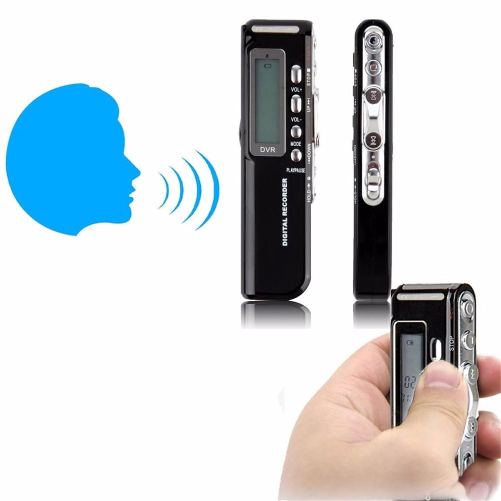 LESHP R10 Mini 8 GB Digital Audio Voice Recorder Long Time USB With LCD Screen Display Built-in Speaker Support Music Playing