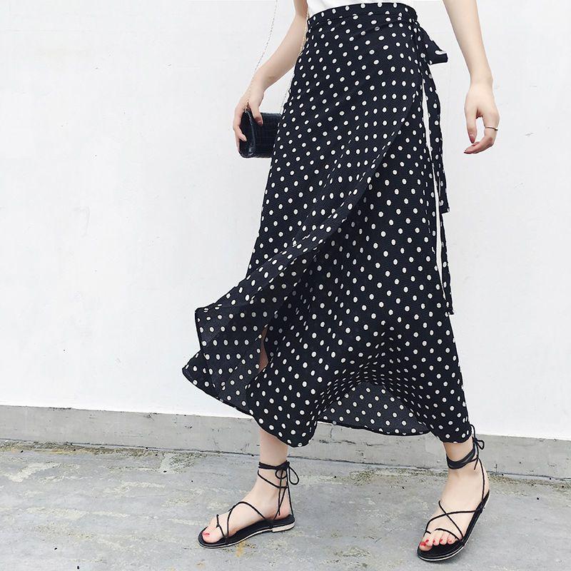 25 Colors 2019 Bohemian High Waist Floral Print Summer Skirts Womens Boho Asymmetrical Chiffon Skirt Maxi Long Skirts For Women