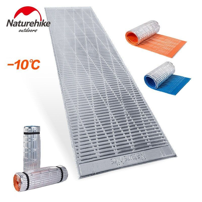 Naturehike Strandmatte Tragbare Feuchtigkeits Camping Matratze Sleeping Pad Folding Yogamatte IXPE Aluminiumbeschichtung 183*56*13 cm