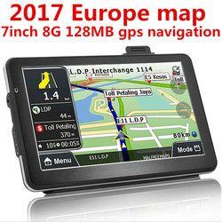 Oriana 2017 nouveau 7 pouce gps navigation CAMION Navigateur gps 800 MHZ FM/8 GB/DDR 128 M nouvelles Cartes Russie/Biélorussie/Kazakhstan Europe/USA