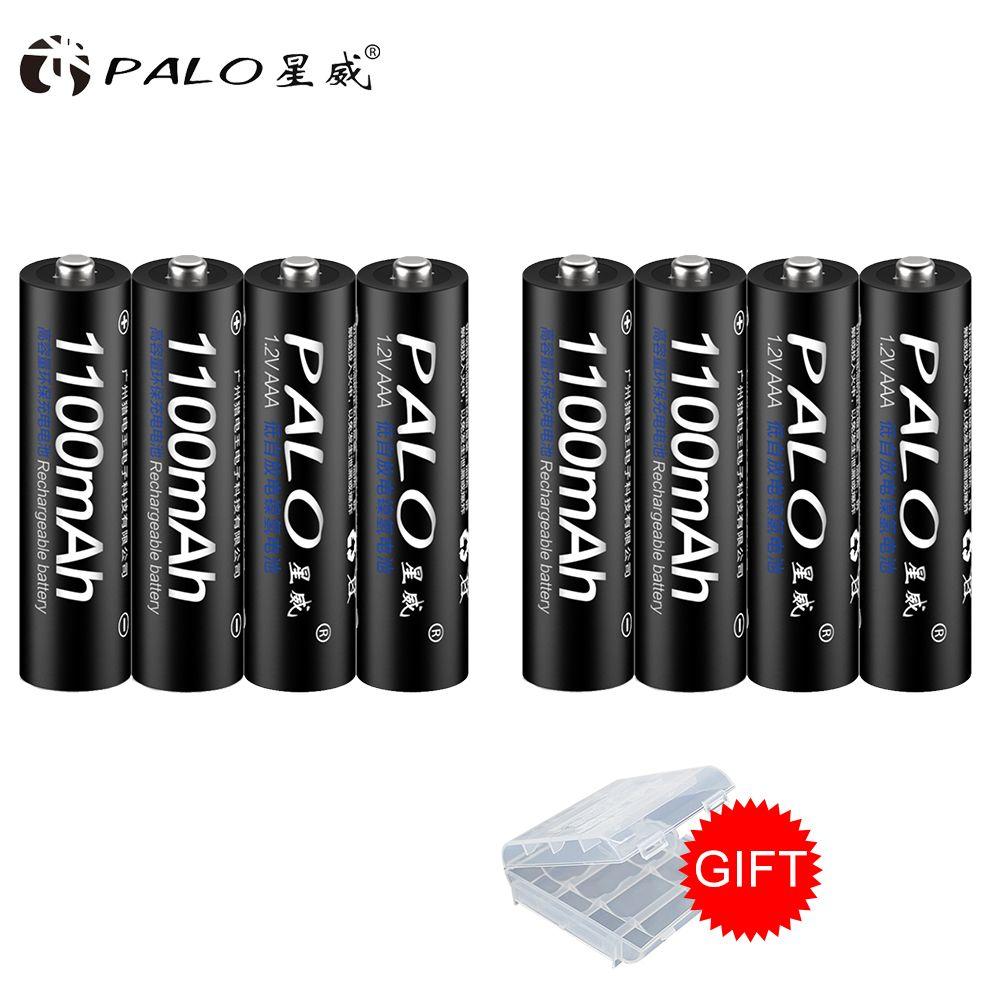 Rechargeable Batterie Cellulaire Ensemble AAA 1100 mah 1.2 v PALO NI-MH 3A Batterie Baterias Bateria Pour LED lumière jouet mp3 livraison gratuite