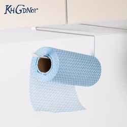KHGDNOR Iron Roll Paper Rack Kitchen Cupboard Hanging Paper Towel Holder Rack Tissue Cling Film Storage Rack