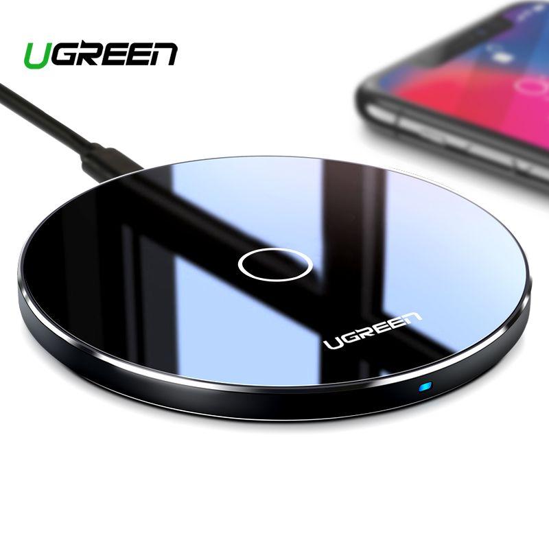 Chargeur sans fil Ugreen 10 W Qi pour iPhone X XS XR 8 Plus chargeur sans fil rapide pour Samsung S8 S9 S10 Xiao mi 9 chargeur