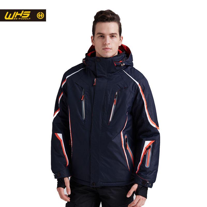 WHS 2018 nouvelles vestes de Ski hommes coupe-vent chaud manteau mâle imperméable veste de snowboard adolescents sports de plein air vêtements d'hiver