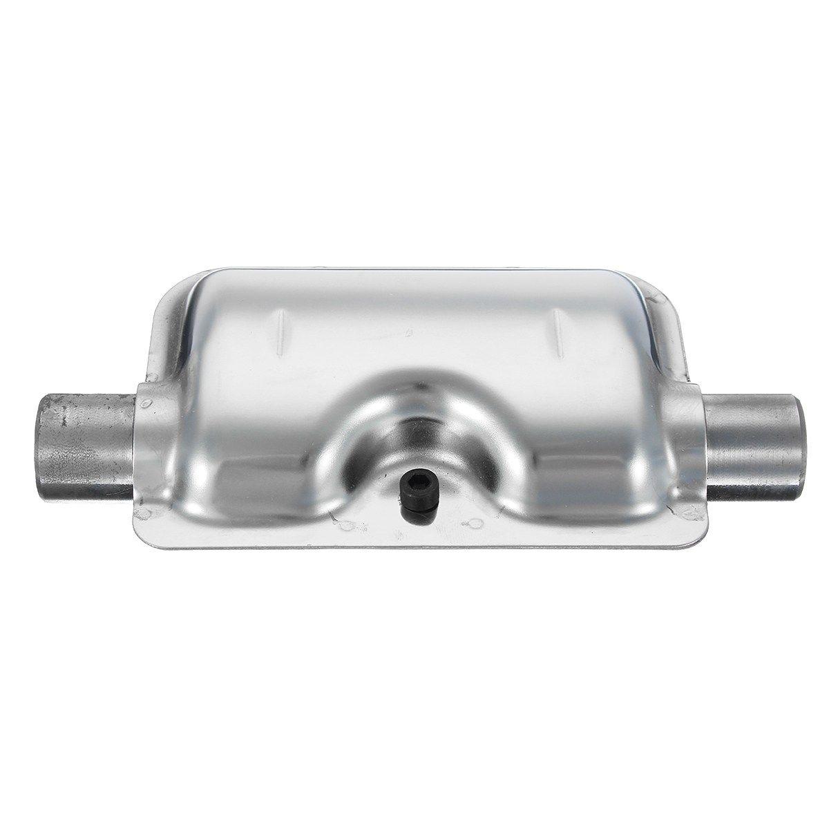 24mm/ 0.9inch Car Exhaust Silencer Muffler for Webasto Eberspacher Heater Portable Silver