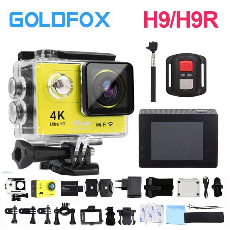 2018 100% New Arrival H9 / H9R Ultra HD 4K Action Camera 30m waterproof 2.0' Screen 1080p sport Camera go extreme pro cam