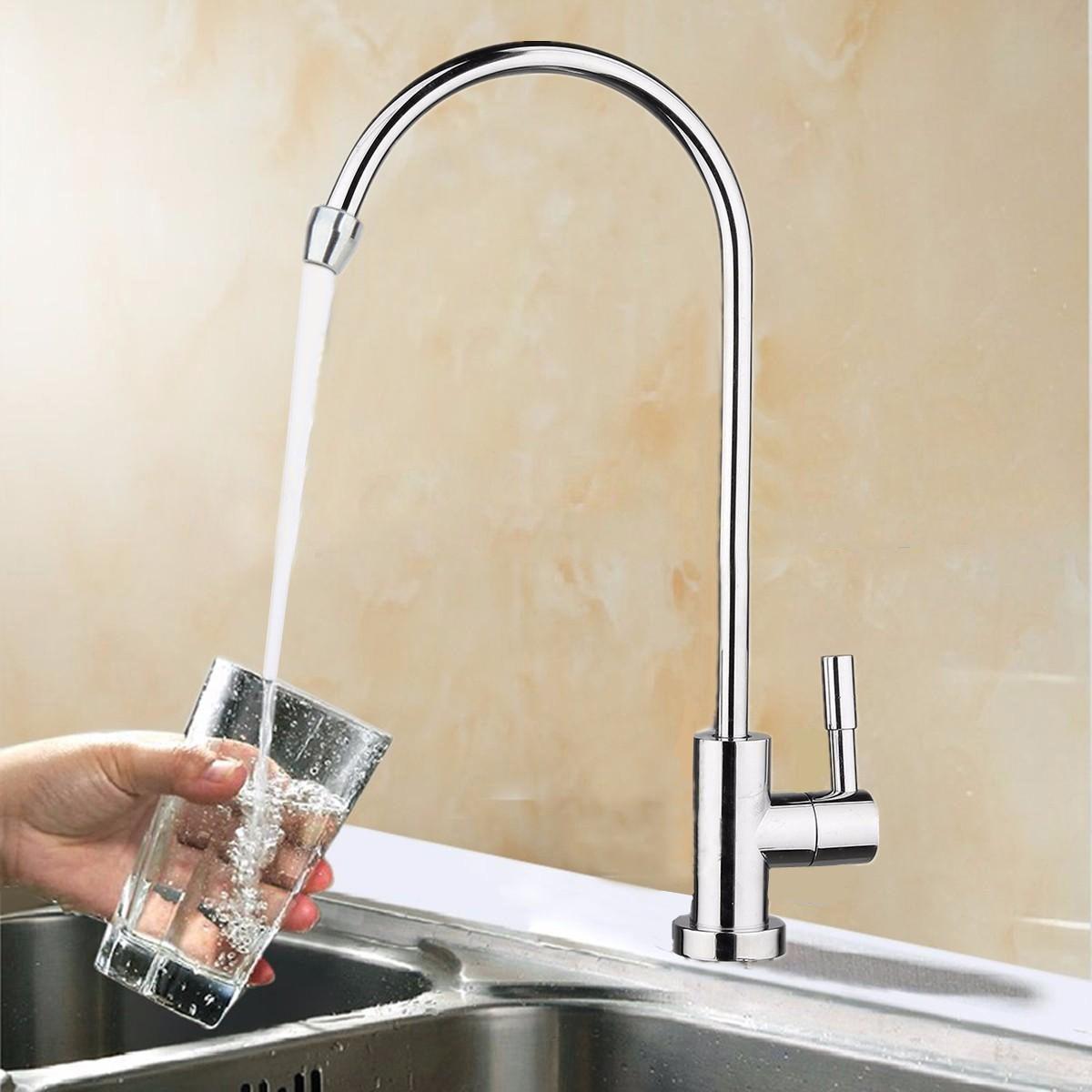Neue 360 Grad Chrom Trinkwasserhahn 1/4 Edelstahl Osmose RO Wasserfilter Armaturen Reverse Waschbecken