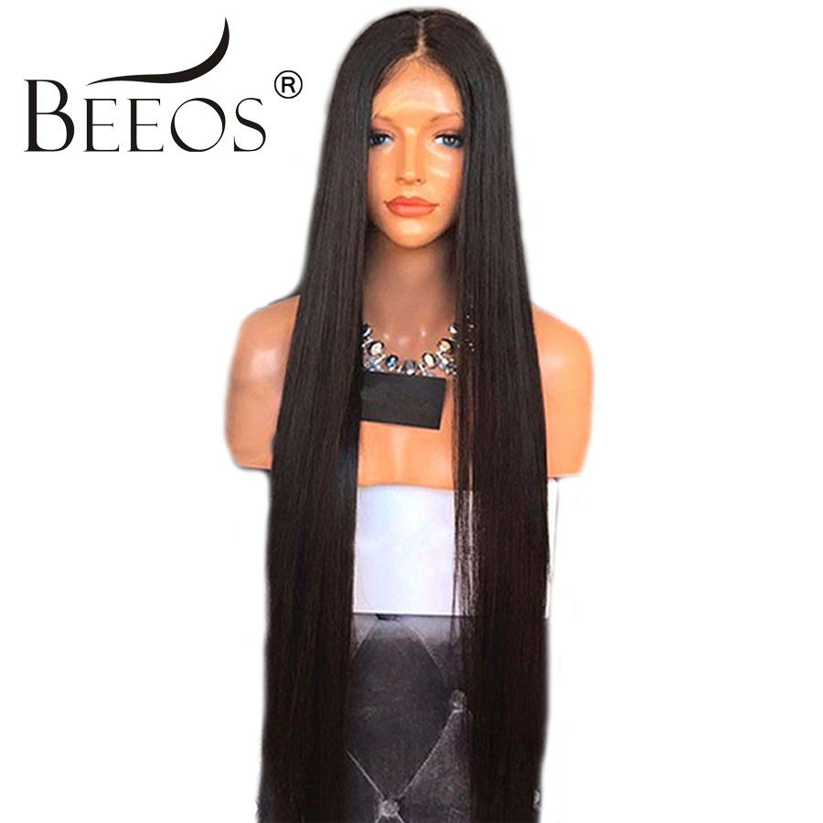 Beeos волос 150 плотность кружева спереди человеческих волос парики естественный цвет Предварительно сорвал волос не Реми волос с волосами мла...