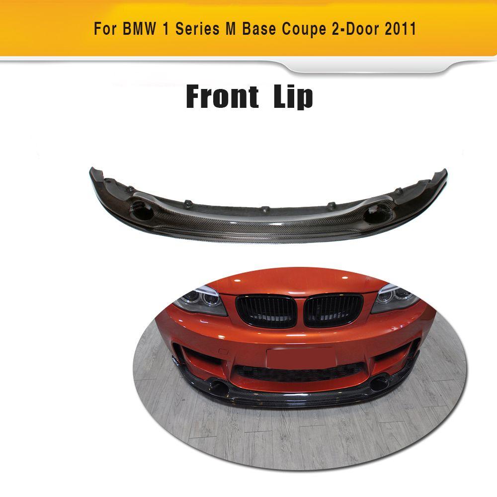 1 Series  Carbon Fiber Car Front Lip Spoiler Fits for BMW E82 M Base Coupe 2-Door 2011