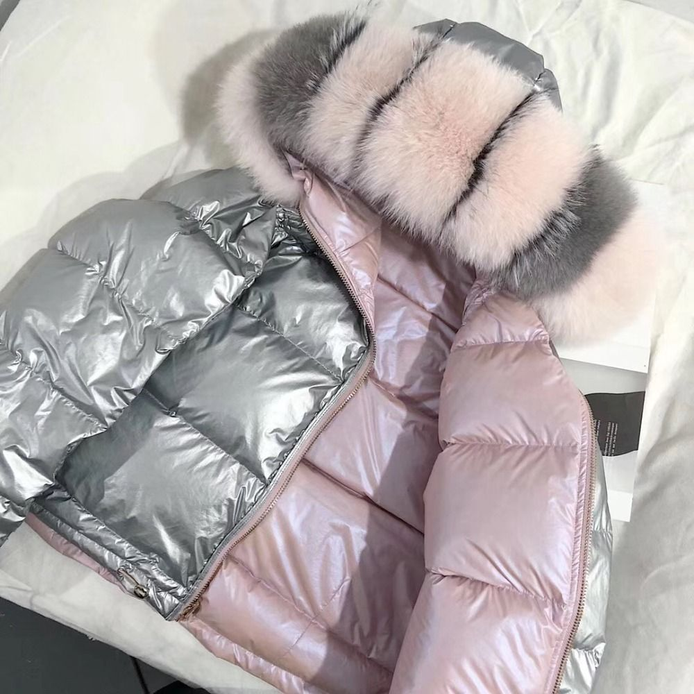 Women Winter Jacket Down Coat Real Fox Fur Collar Down Parka Outerwear Thick Warm Winter Clothing 2018 Fashion Duck Down Jacket