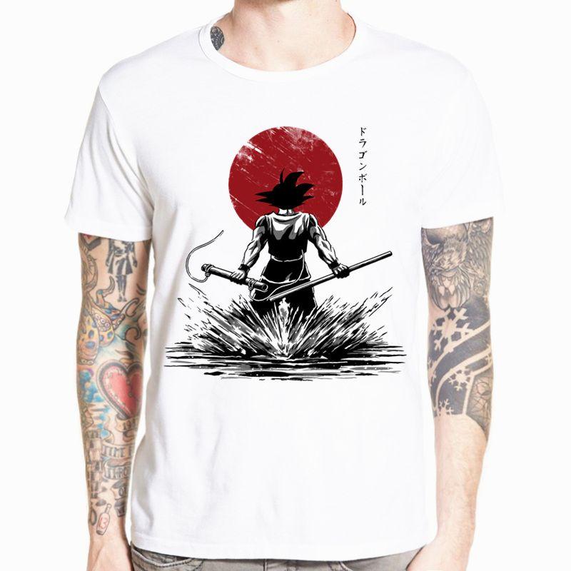 Dragon Ball Z Goku T-shirt à manches courtes col rond T-shirt d'été Saiyan végéta Harajuku marque vêtements T-shirt HCP316