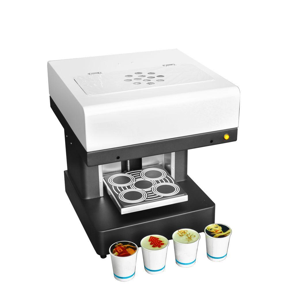 4 tassen Essen und Kaffee inkjet drucker kaffee maker essbare kaffee kuchen drucker maschine mit multi-funktion automatische drucker