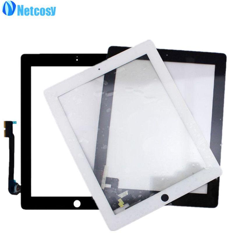 Netcosy Écran Tactile Digitizer Avant Tactile Lentille En Verre de Panneau pour iPad 2/3/4 Écran Tactile Pièces De Rechange TP réparation Accessoires