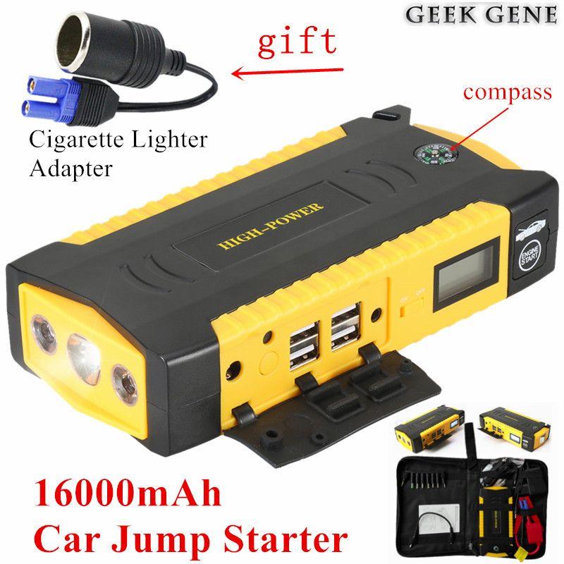 Diesel Petrol Car Jump Starter 12V 600A Portable Lighter Power Bank Starting Device Car Charger For Car Battery Booster Starter