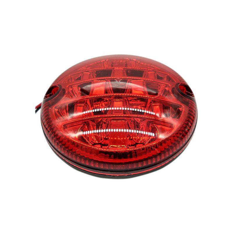 1 pièces 12 V/24 V LED 95mm étanche rouge feux de brouillard de voiture arrière haute qualité antibrouillard universel