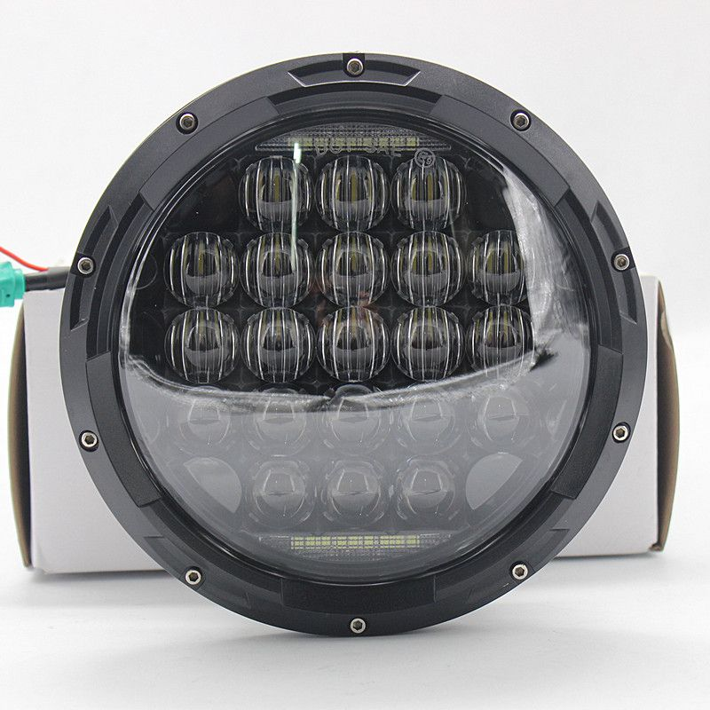 2pcs 7inch Round 5D 126W LED Headlight with Hi/low beam with H14 connector for Jeep Wrangler 07-16