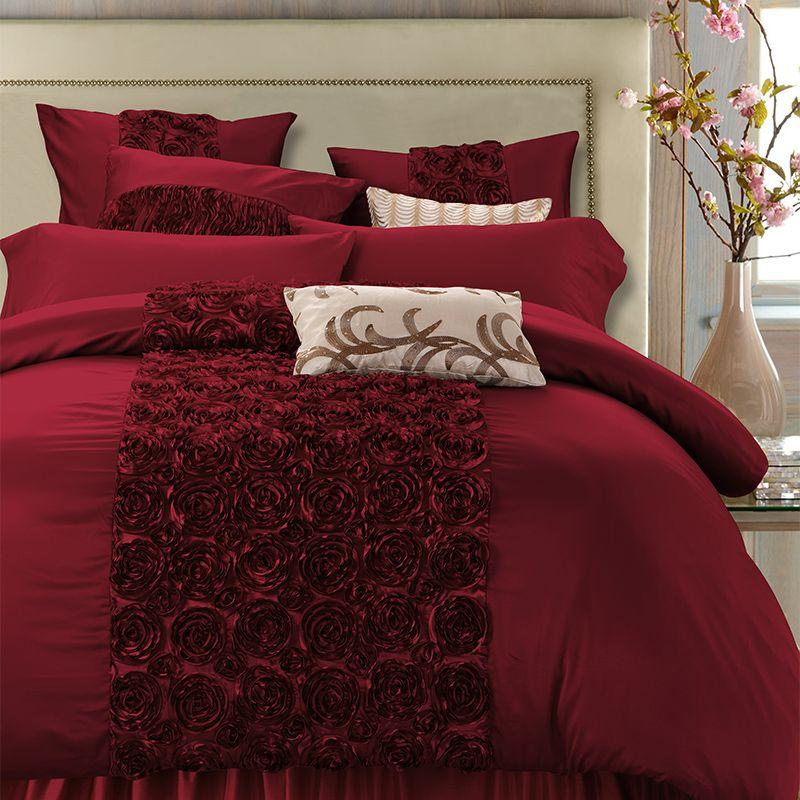Ensemble de literie de luxe en coton de soie de luxe reine roi ensemble de lit Super King size housse de couette drap de lit parure de lit adulte ropa de cama