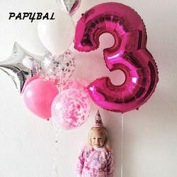 1 шт. 40''Rose Золотое серебряное число Алюминий Фольга Гелий воздушные шары на день рождения вечерние украшения Юбилей надувной воздушный шар