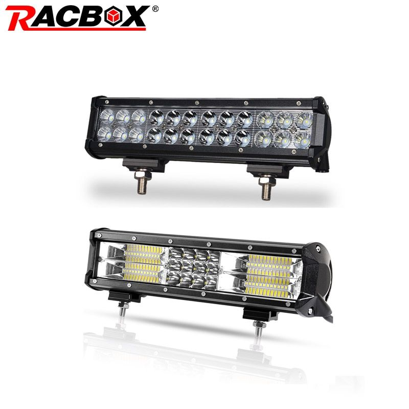 12 inch 3D 5D 72W Offroad LED Light Bar Tri-row Double Row Work Light for 4x4 UAZ SUV ATV 4WD Truck Automobile 12 24V Combo Beam