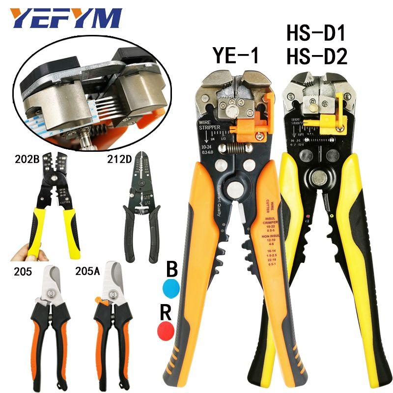 Multi-outils pince pince pince coupe câble fil capacité 0.25-6mm2 HS-D1 YE-1 marque sertisseur acutomatique outils de réparation électrique