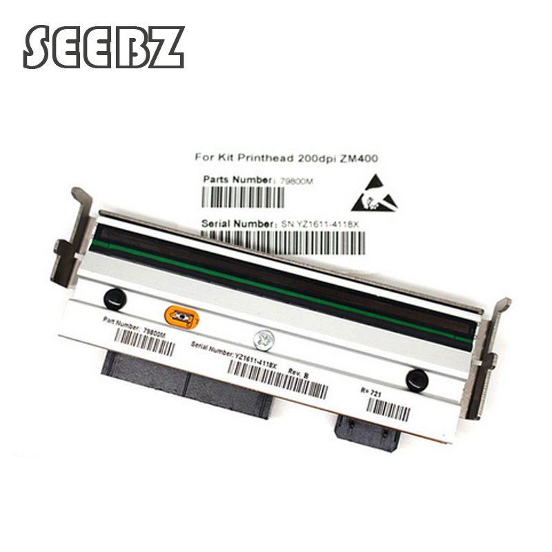 Neue Thermische Druckkopf Für Zebra ZM400 203 dpi Thermische barcode label drucker Kompatibel 79800 mt Drucker Teile, freies verschiffen